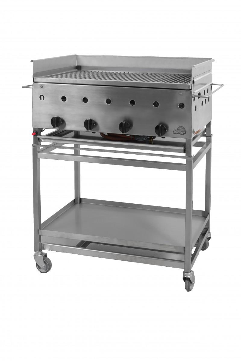 Gas-Bratplatte: Modell UF2 Standmodell fahrbar